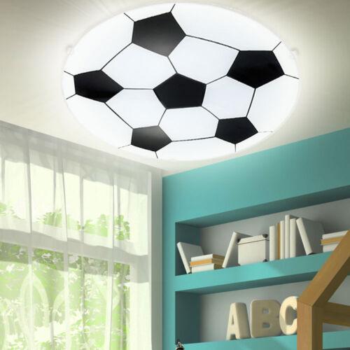 LED Decken Leuchte Jungen Kinder Zimmer Fußball Design Wand Lampe Glas satiniert