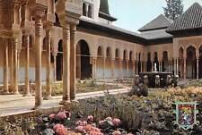 Spain Granada Alhambra Lyons Court Patio de los Leones Fountain