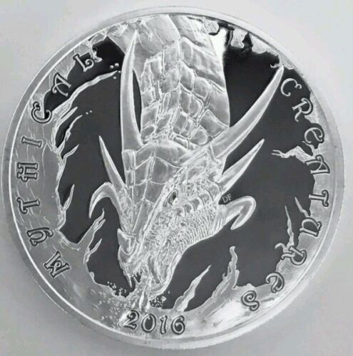 SILVER MYTHICAL CREATURES DRAGON// PHOENIX MATCHED SET 2016 UK SILVER STACKERS