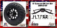 Golf Cart 12 Clutch Wheels W/ 23 A/t Tires 6 Club Car Ds Lift Kit 2004.5-up
