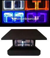 8- Pack Black 4x4 Fence Post Cap Solar Lights 5 Leds - Free Shipping