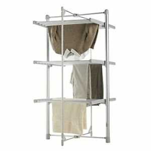3-TIER-ELECTRIC-CLOTHES-AIRER-HEATED-24-RAILS-DRYER-FOLDING-DELUXE-PORTABLE-NEW