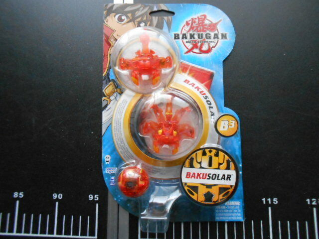 Bakugan Atmos Haos naranja Translucent 3 headed Myriad Pyrus B3 Bakusolar new