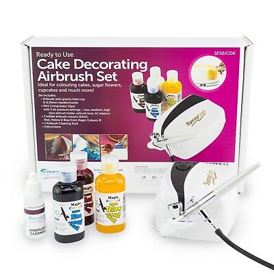 Cake Airbrush Decorating Kit includes Compressor, 3 ...