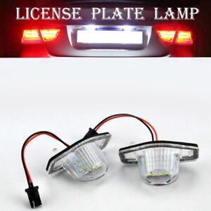 2X-Kennzeichen-LED-Licht-Lampe-Fuer-99-14-Honda-Accord-CRV-Acura-MDX-TL-TSX-CT