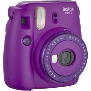 claro púrpura Fujifilm Instax Mini 9 compacto cámara de películas instantáneas