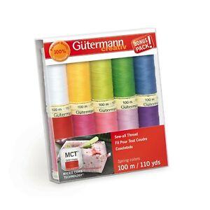 Gutermann Thread Sew All Basic Asst Pack of 7 Spools ea 110 yds Polyester