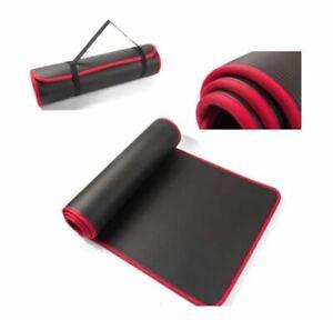 Tappetino-Fitness-Yoga-Palestra-183x61-tappeto-Yoga-Nero-Attivita-Spesso