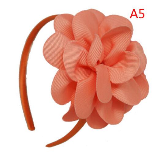 Big Flower Hair Bows Headband  Hairbands Hoop Hair Accessories For GirlsHF