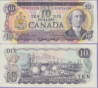 Coins & Paper Money Canada Canada 10 Dollars Banknote 1971 Choice About Uncirculated Condition Cat#88-6255 Ture 100% Guarantee