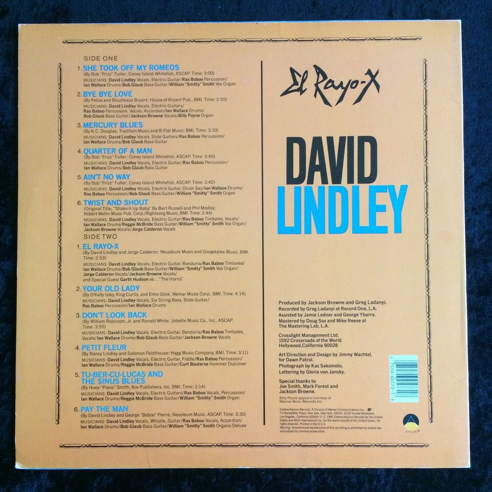 LP, David Lindley, El Rayo-X