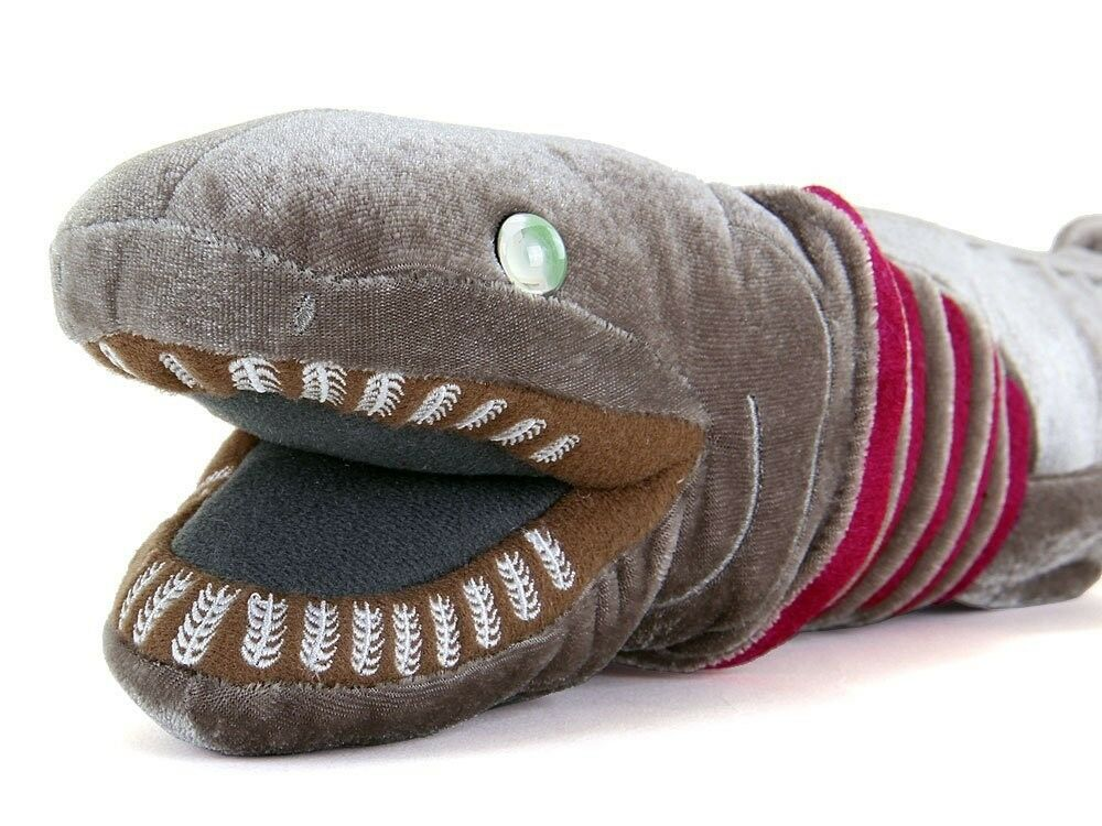 COLORATA Frilled shark Real Plush Doll Soft Toy Toy Toy stuffed animal 12x8.5x50cm Gift 2482c8