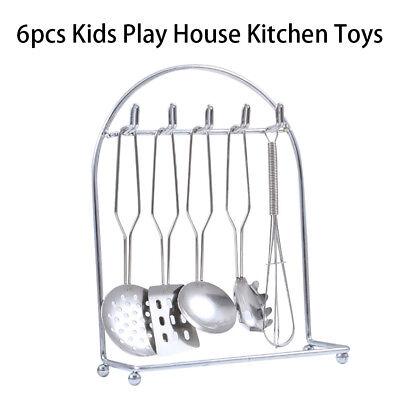 Slotted Spoon /& More 5pcs Kids Pretend Play Kitchen Utensil Set E Spatula