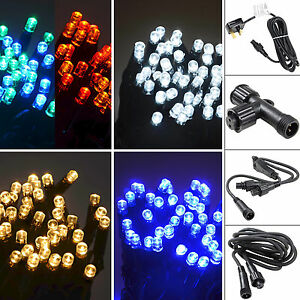 Connectable-String-Lights-100-LED-Sets-Power-Cord-Extension-Cables-Outdoor-Use
