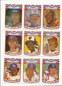 1984 DONRUSS DIAMOND KINGS COMPLETE 27 CARD SET SCHMIDT-BOGGS-MURRAY