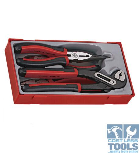 Teng Tools 4 pce Mega Bite Pliers with TPR Handles TT440-T