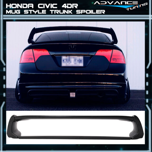 06-11 Honda Civic 4Dr Mugen Style Rear Trunk Spoiler Wing (ABS)