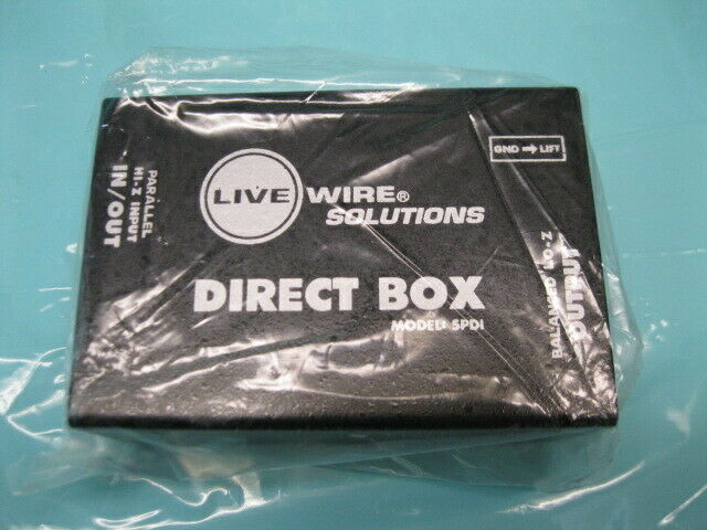 LIVE WIRE SOLUTIONS DIRECT BOX SPDI
