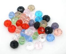 100 Mix Kristall Facettiert Glasperlen Schliffperlen Beads BICONE 8mm