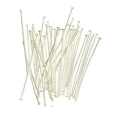 100pcs Silver Golden Head/Eye/Ball Pins Finding 21 Gauge 10 Size To Choose