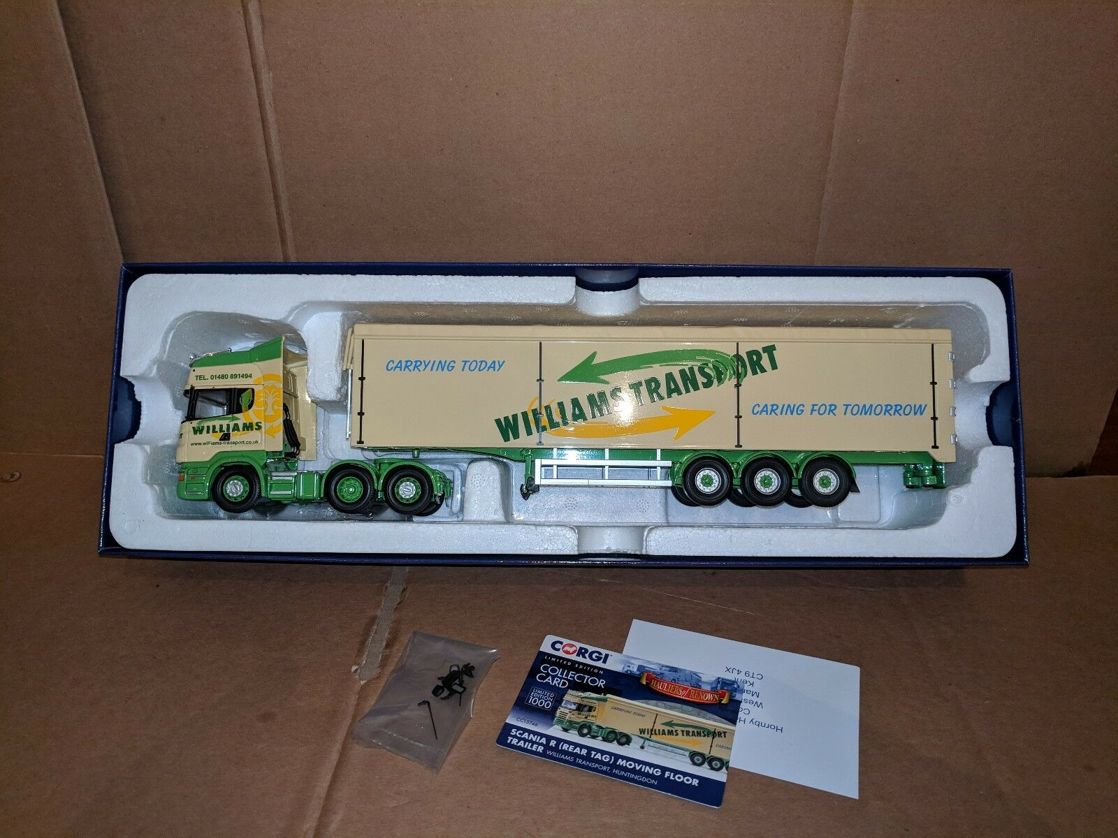 Corgi Scania R & W Floor Trailer- Williams Transport