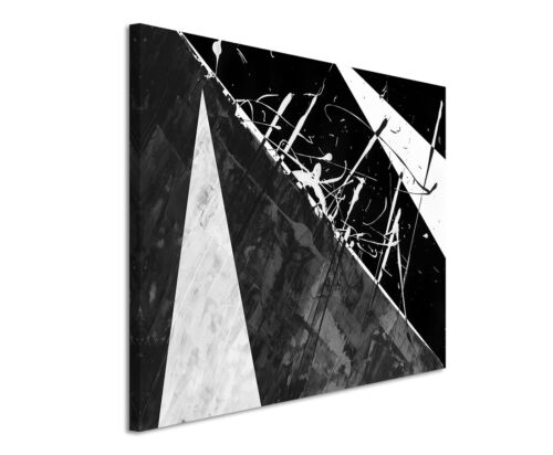 Leinwandbild abstrakt schwarz grau weiß Paul Sinus Abstrakt/_697/_120x80cm