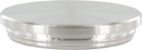 Endkappe flach unten verjüngt zum E für Rohr ø 42,4 x 3,0mm massiv mit Nase