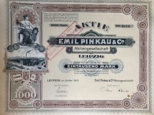 !! Emil Pinkau Ag Leipzig 1923 !!top Deko!!