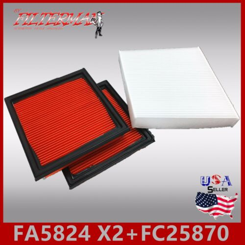FC25870 49362 24479 ENGINE /& CABIN AIR FILTER FA5824 08-12 EX35 /& 14-16 Q60 X2