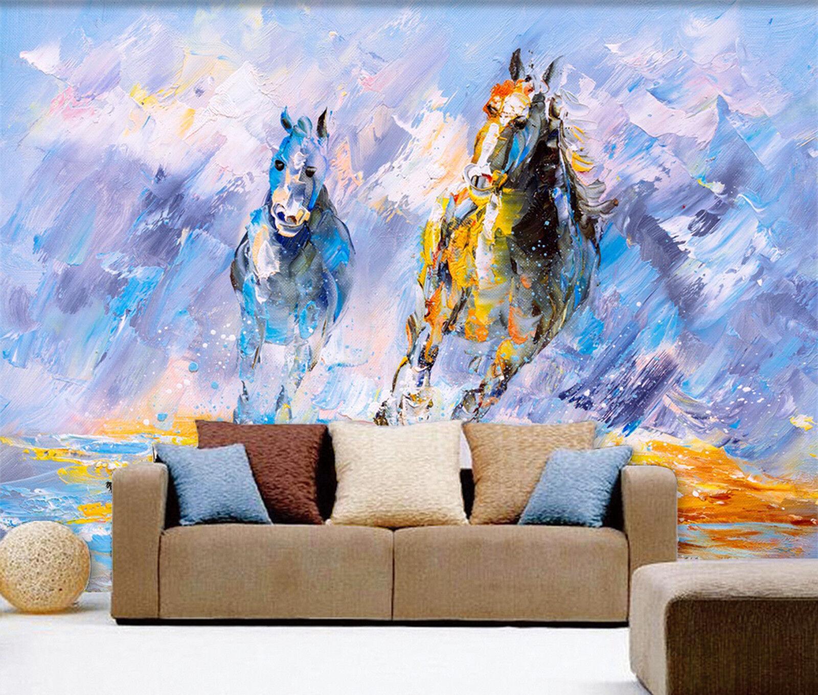3D Bergspitze Malerei Fototapeten Wandbild Fototapete Bild Tapete Familie