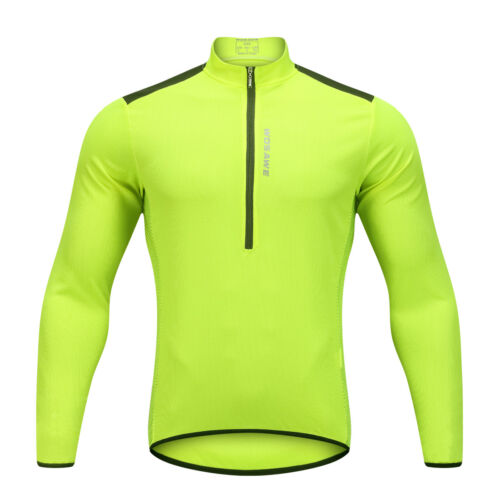 Mens Long Sleeve Cycling Jersey Breathable Quick Dry Sports Bike Wear Shirt Tops
