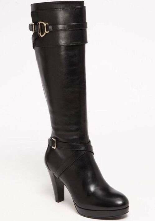 Cole haan high knee black leather boots. GREAT conditions.