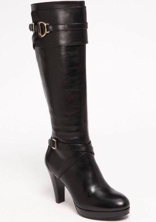cole haan haut genou bottes en noir.beaucoup cuir noir.beaucoup en de conditions. 4eee3c