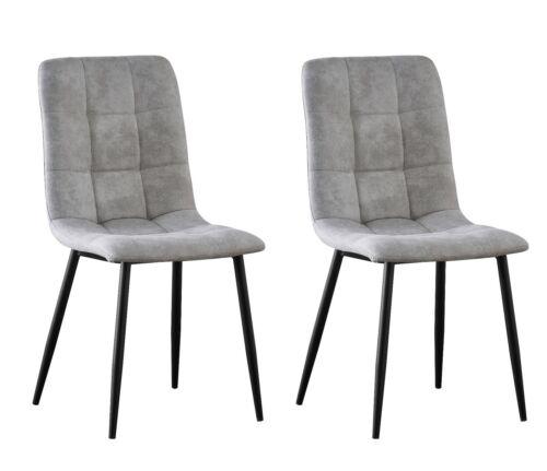 Set of 4 Faux Matte Suede Leather Dining Chairs home & restaurants Henri Light Grey,Pink,Black,Dark Grey