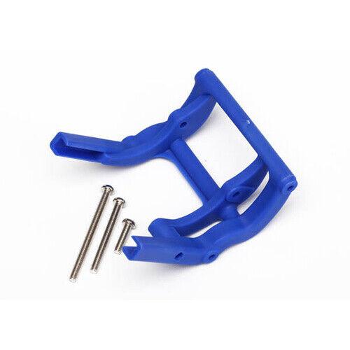 Traxxas 3677X: Wheelie bar mount TRAXXAS blue 1 // hardware