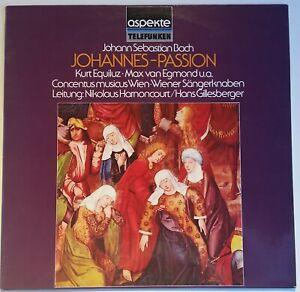 Bach Johannes Passion St. John Passion Equiluz Harnoncourt Telefunken aspecte