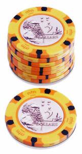 50 x Aussie Currency Poker Chip 14g Clay Casino Gambling Premium Grade