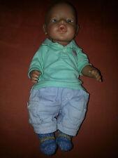 Baby Born Puppe mit Shirt, Hose und selbst gestrickten Socken