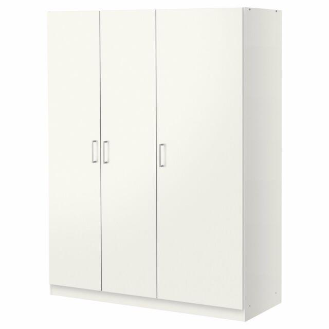 Kleiderschrank ikea weiß  Kleiderschrank IKEA Dombas weiß 140x181x50 Cm | eBay