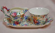 Vintage James Kent Ltd. Rosalynde Fenton Chintz Sugar & Creamer with Tray