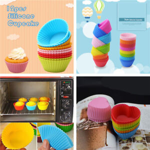 12PC-Silicone-Soft-Cake-Muffin-Chocolate-Cupcake-Bakeware-Baking-Cup-Mold-Moulds