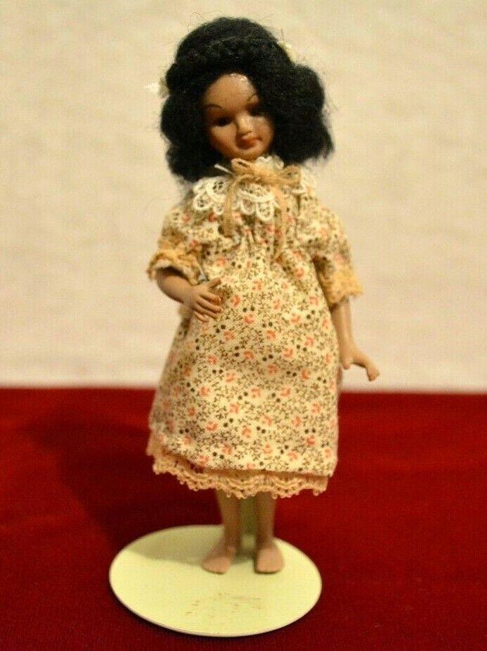 Miniature Doll Porcelain Girl Dollhouse 1 12 African Mexican Latina
