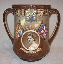 Royal Doulton 1953 Queen Elizabeth Coronation Loving Cup