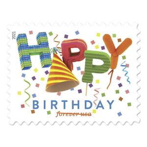 USPS New Happy Birthday Pane of 20