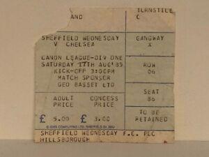 Sheffield-Wednesday-v-Chelsea-1985-1986-North-Stand-Ticket-Stub