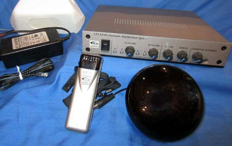 Sistema de amplificación Lightspeed LES 820iR 820iR 820iR Classroom + LT-71 lightmic + Sensor Infrarrojo 5514a9