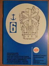 Ersatzteilliste DDR Schiffs-Diesel Motor 6 VD 14,5/12-1(2) SRW Fortschritt DMS