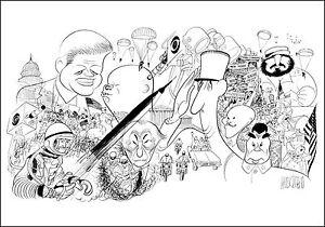 AL-HIRSCHFELD-Hand-Signed-KENNEDY-YEARS-MAJOR-WORLD-LEADERS-MARGO-FEIDEN