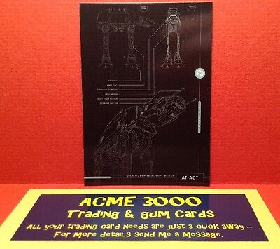 Blue Print Star Wars Rogue One Series 1 Topps 2016 Chase Card C1746 AT-ACT