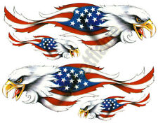 AMERICAN USA FLAG EAGLE DECAL STICKER EMBLEM GRAPHIC HELMET SKATEBOARD SNOWBOARD